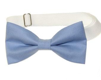 Mens Singing Blue Birds Pre-Tied Cotton Bow Tie On Adjustable Twill Strap