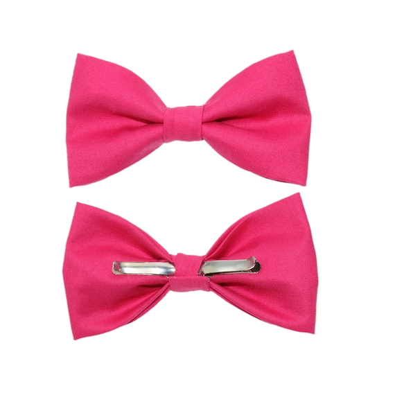 Valentine Pink Clip-On Cotton Bow Tie | Choose Men's or Boys Bowtie | Mens Clip On Bow Tie | Boy Toddler Bow Tie  | Pink Bowtie