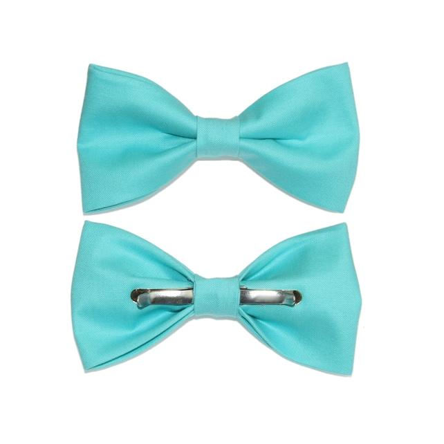 Capri Blue Clip-On Cotton Bow Tie | Choose Men's or Boys Bowtie | Mens Clip On Bow Tie | Boy Bow Tie  | Blue Bowtie