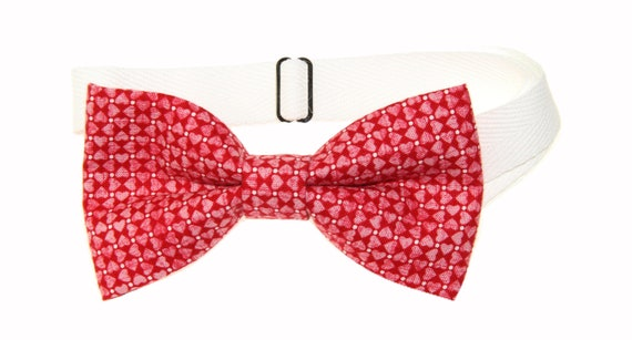 amy2004marie Mens Hearts and Roses Clip On Cotton Bow Tie