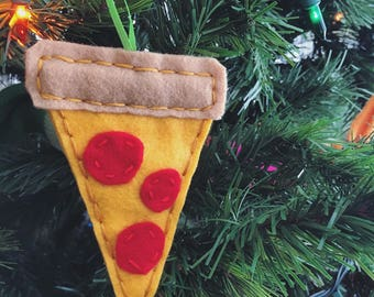 Felt Pizza Ornament