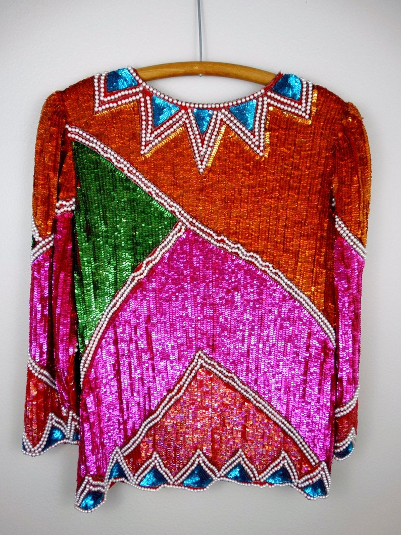 Electric Sequined Pearl Beaded Jacket  Retro Bright Sequin Jacket  Fully Sequined Jacket
