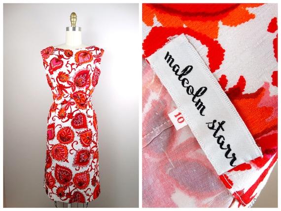60s Malcolm Starr Dress / 1960's Vintage Designer