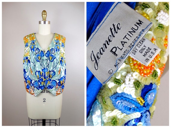 Jeanette Kastenberg Sequin Silk Vest // Bright Flo