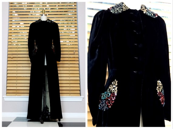 1940's Sequined Evening Dress Coat / Opera Sequin
