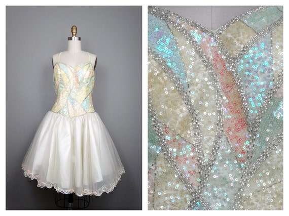Dreamy Couture Sequined Birthday Princess Dress //