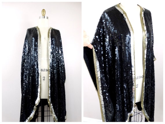 O/S Beaded Sequin Shrug Cover // Fully Sequined Be
