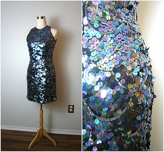ROCK STAR Beaded Sequin Dress // Hollywood Glam Pa