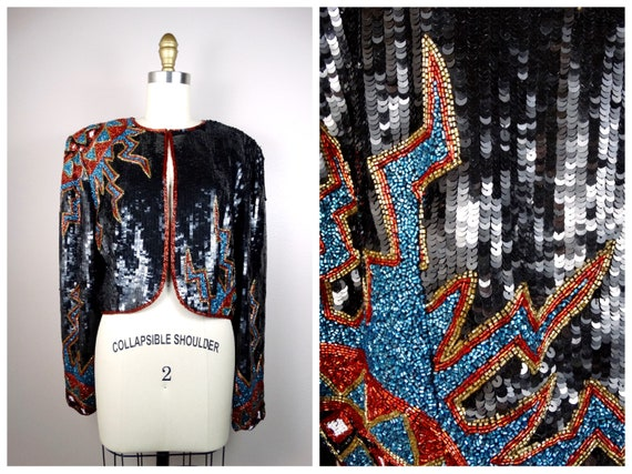 ELECTRIC Beaded Sequined Jacket // Bursting Beaded