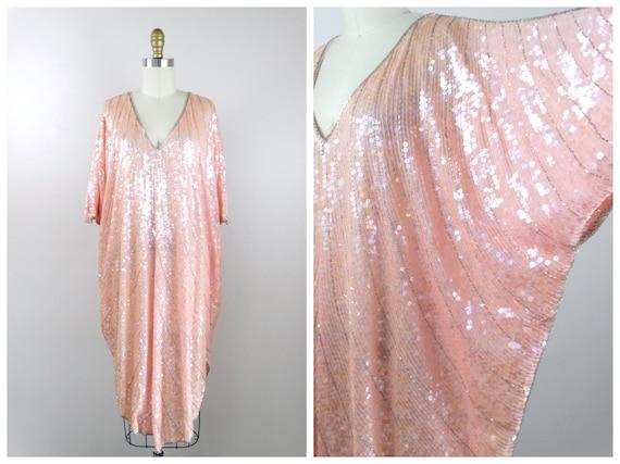 Plus Size Sequined Dolman Sleeve Dress // Iridesce