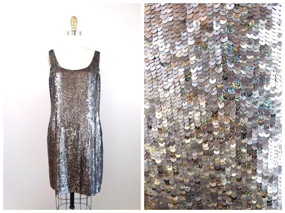 Holographic Sequin Dress // Vintage Sequined Dress