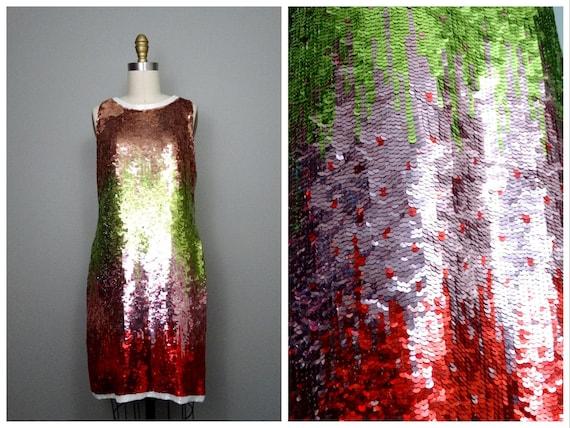 Ombré Sequin Dress // Vintage Fully Sequined Dress