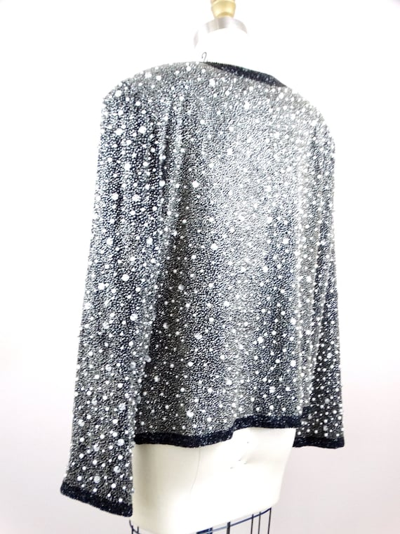 Heavy Pearl Beaded Jacket // Heavily Beaded Blaze… - image 6