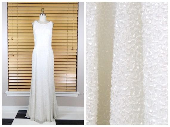 Lillie Rubin Fully Beaded Wedding Gown / Iridescent White | Etsy