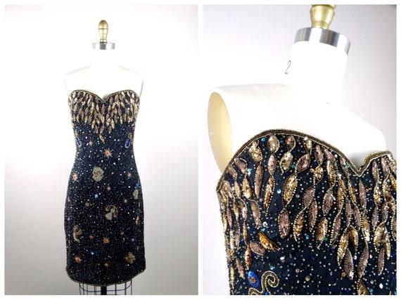 Astrology Beaded Sequin Dress // Zodiac Beaded Seq