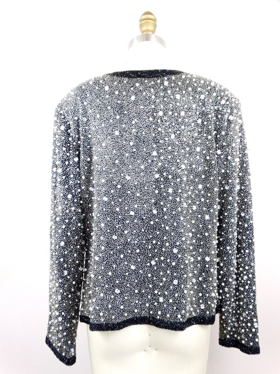 Heavy Pearl Beaded Jacket // Heavily Beaded Blaze… - image 5