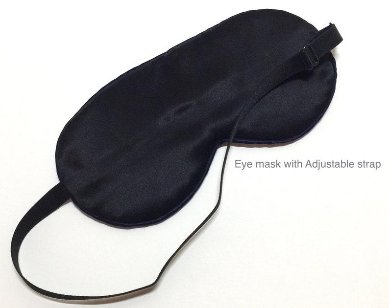 Men's Blue Plaid-cotton face/ silk backed sleep mask