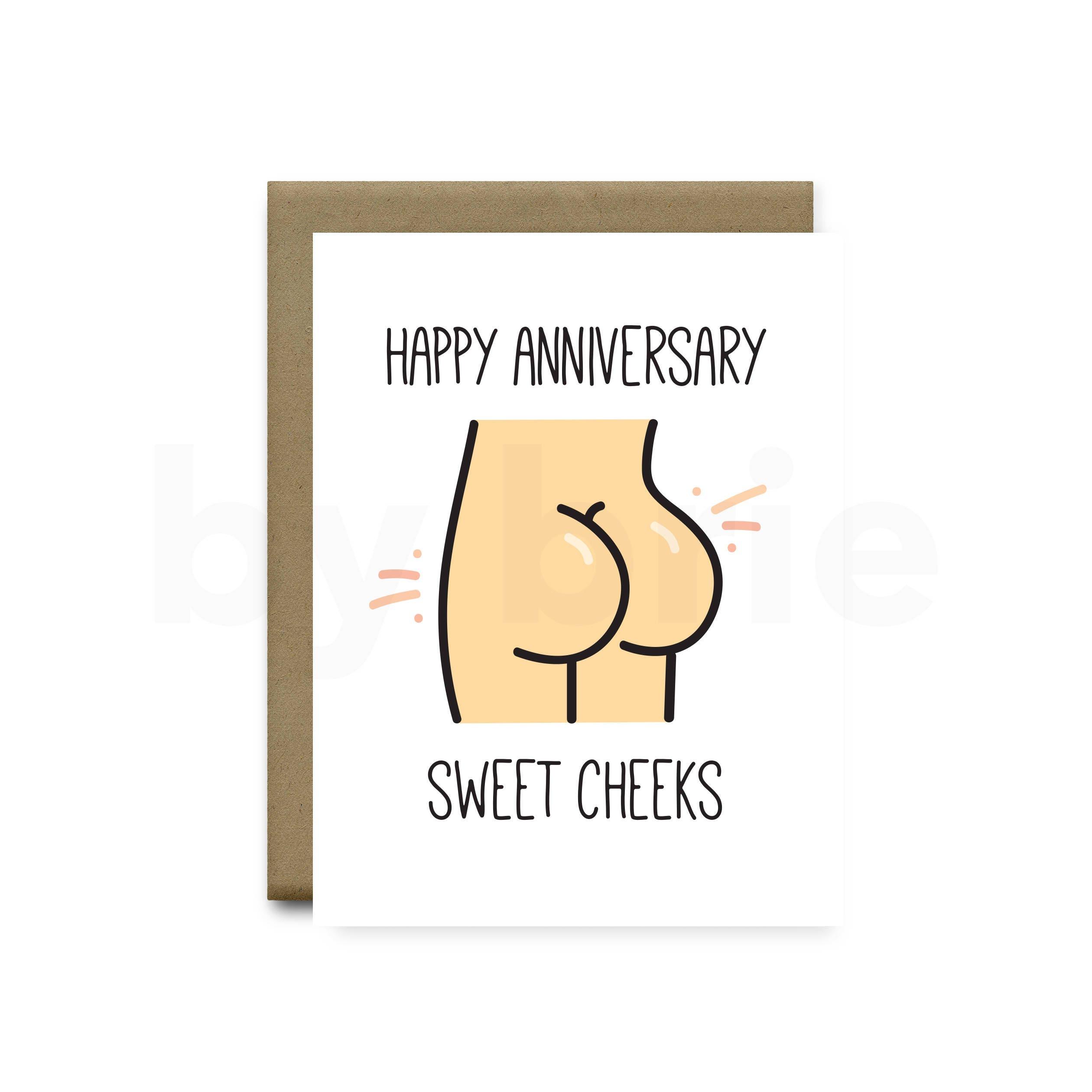 Sweet Cheeks Funny Anniversary Card Boyfriend Funny Etsy