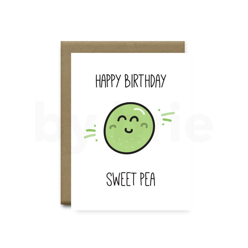 Happy Birthday Sweet Pea Funny Card Boyfriend