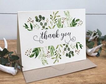 Wedding Thank You Cards Etsy Ca