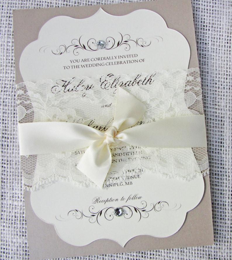 Elegant Wedding Invitation Lace Wedding Invitation Vintage Wedding Invitation Wedding Invitation Set Elegant Lace Traditional Wedding