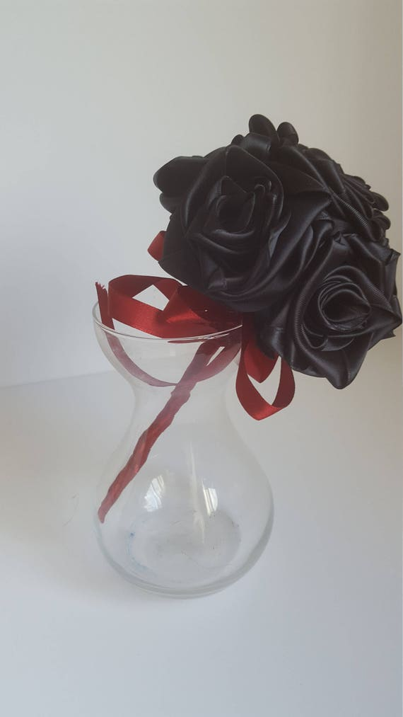 Black Rose Bouquet Small Etsy