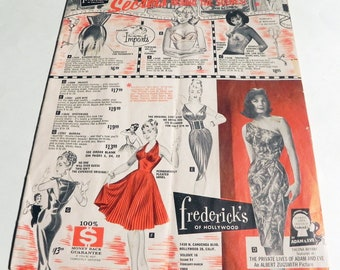 514a3fb590 1960s Fredericks of Hollywood fashion lingerie catalog pinup bra girdles sex  appeal clothes vintage risque rockabilly