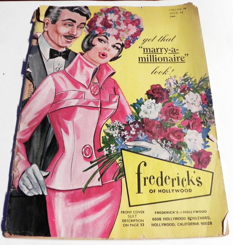 efd4710a6b 1960s Fredericks of Hollywood catalog lingerie fashion sexy