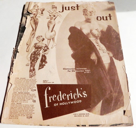 6a442bb899 1950s Fredericks of Hollywood vintage fashion pinup lingerie