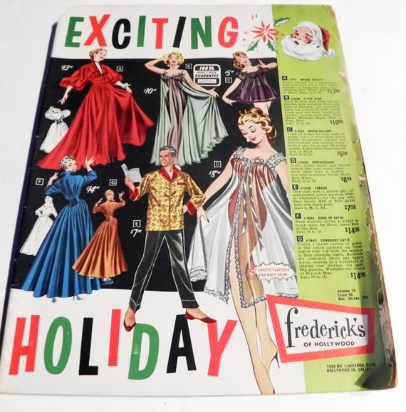 8b50a6c6b6 1950s Fredericks of Hollywood vintage lingerie fashion catalog