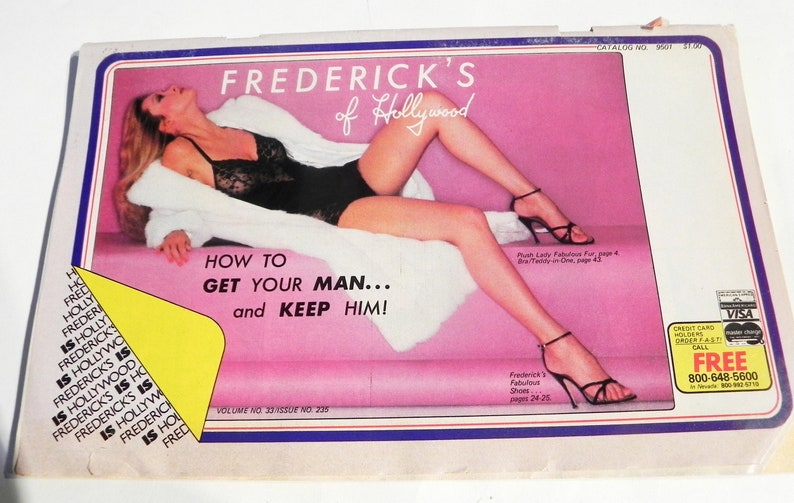 912622f7f4 1970s Fredericks of Hollywood Catalog fashion sexy lingerie