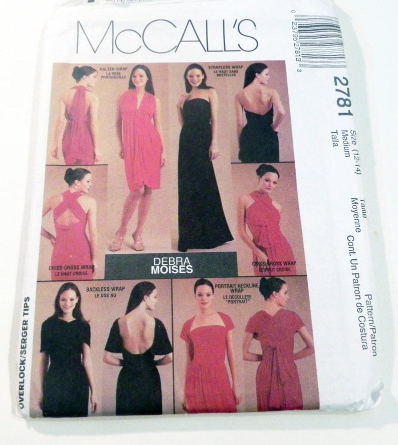 2781 Rückenfreie Mccalls Maxi 14 Ff Wrap Bust Schnittmuster 12 Unendlichkeit Moises Debra Ungeschnitten 34 36 Größe Kleid W2EHb9IYeD