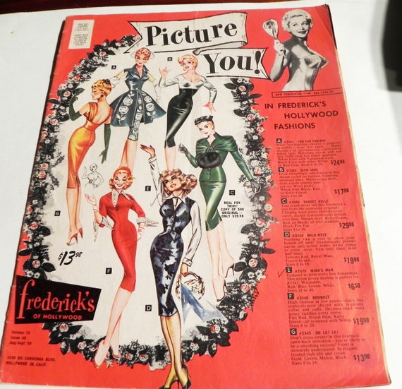 031326d616 1950s Fredericks of Hollywood vintage risque lingerie fashion