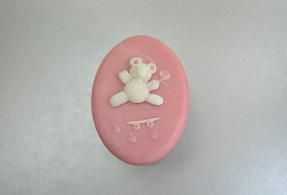 Design Gifts International Inc White Teddy Bear Pink Stone Etsy
