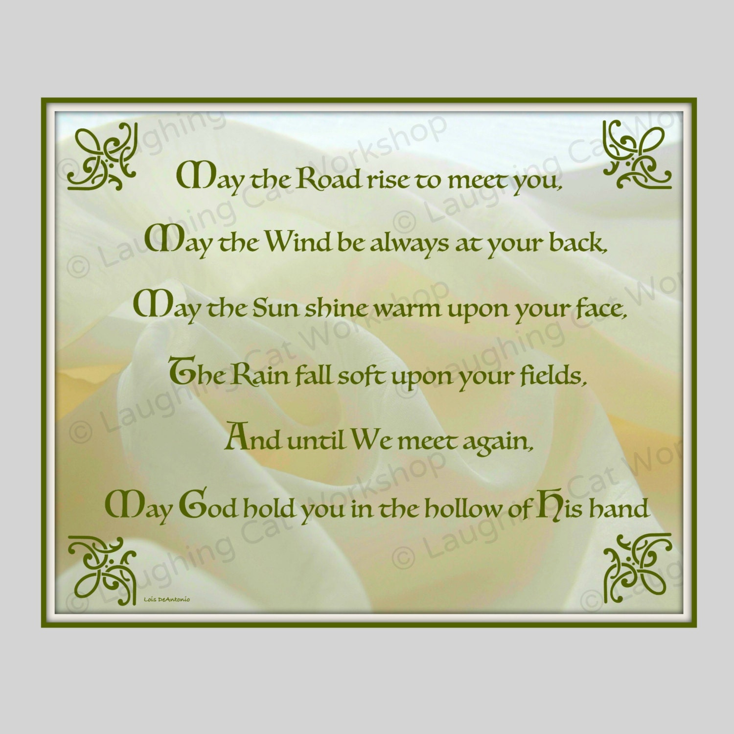 Irish blessing art Irish quote print Irish art St Paddys Day | Etsy