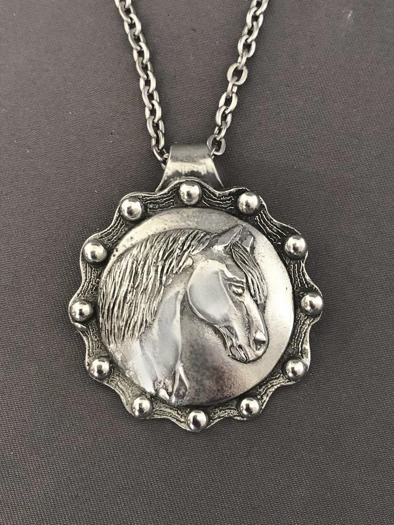Paso Fino Horse concho necklace image 0