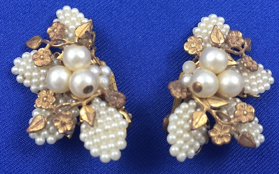 Haskell-style Gold & Pearl Earrings