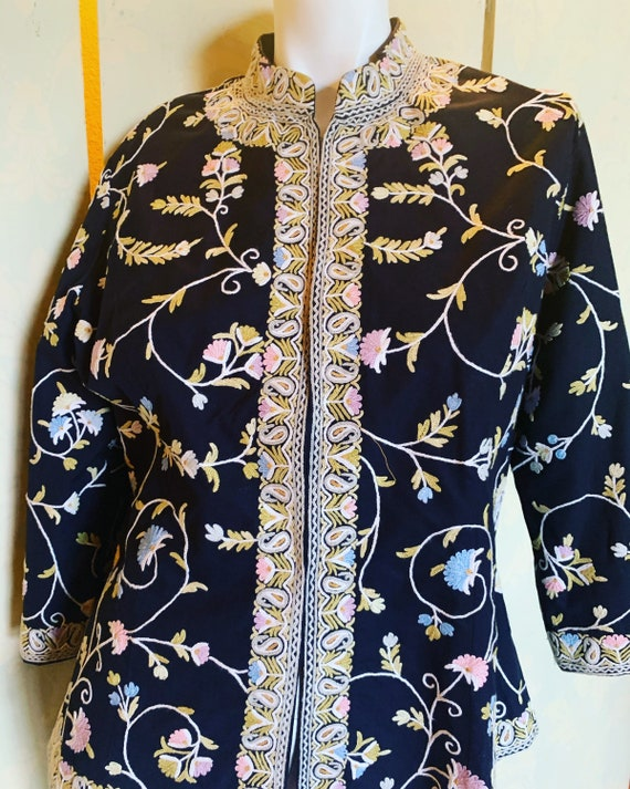 Silk embroidered Kashmiri Jacket