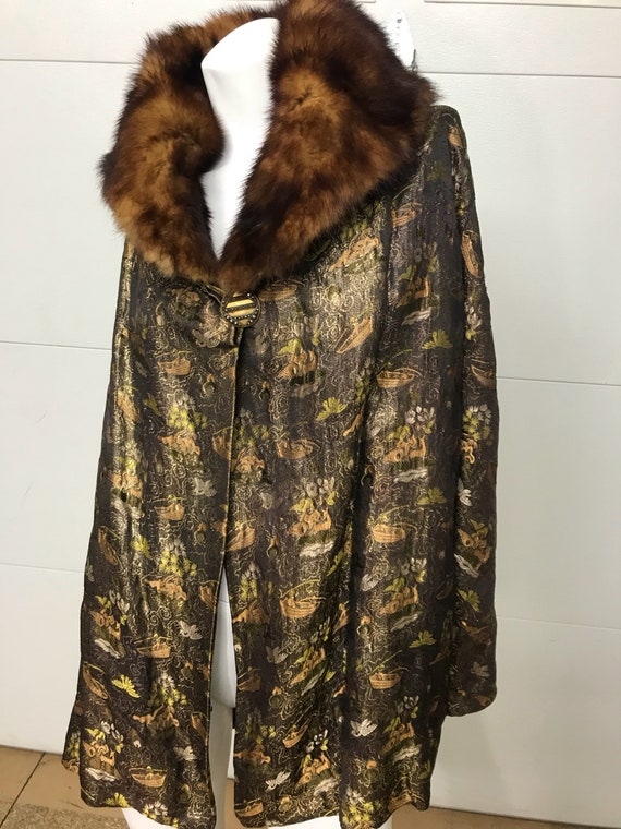 Antique Silk Brocade Kimono Jacket