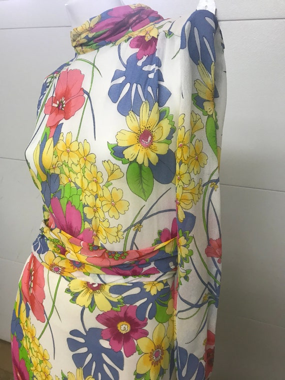 Floral 70s Gown