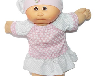 Cabbage Patch Doll Clothes 14 Inch Girl or Preemie Summer Orange Skirt Blouse Hat No Doll