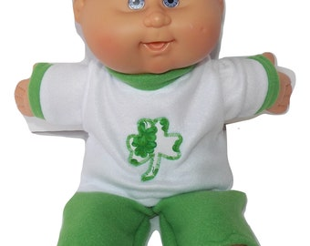Patricks Day Pants Cabbage Patch 12 inch Doll Clothes Bright Green St
