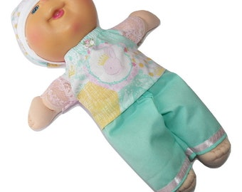Cabbage Patch Doll Clothes Fits 16 Inch Kids Girl Easter Bunny Embroidered Skirt and T Shirt