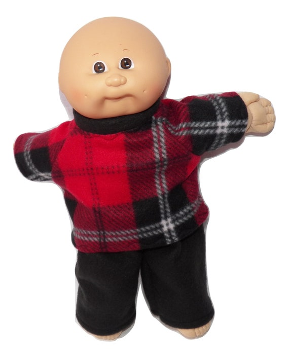 Cabbage Patch Doll Clothes Fits 14 inch Boy or preemie Blue Black Pants