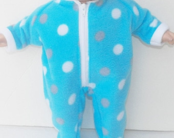 Baby Doll, HANDMADE CLOTHES, made to fit your 15 inch bitty baby, blue polka dot pajamas