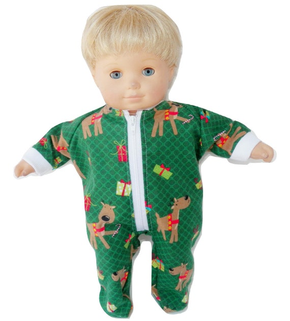 855515efb095 Bitty baby sleeper Green Reindeer Sleeper Bitty Baby Winter