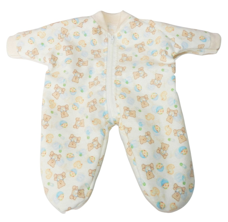 1b77f392231a Bitty Baby Doll Clothes Yellow Flannel Pajamas
