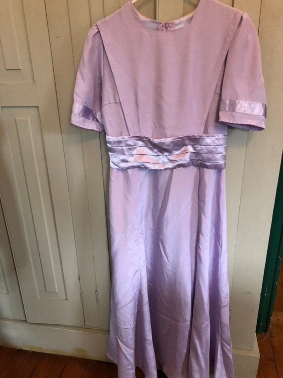 Handmade Lavender Modest Elaine Mennonite Style Maxi Dress Etsy