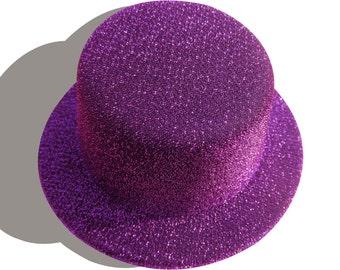 59e80140755c0 1pcs Purple Gitter Mini Top Hats Craft Making Party Fascinator Alligator  Clips Millinery DIY