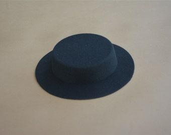 2cffd3cd2127a 1pcs Black Mini Tilt Top Hat Millinery Fascinator Base Craft DIAMETER 17CM  High 3cm A051